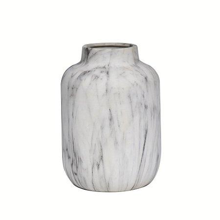 Vaso Cerâmica Efeito Marmorizado
