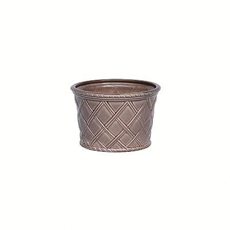Vaso Cerâmica Treliça Palm Beach