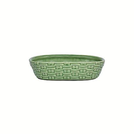 Vaso Cerâmica Sarine Tramas Verde