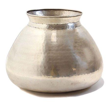 Vaso Metal Cor Prata Fosco