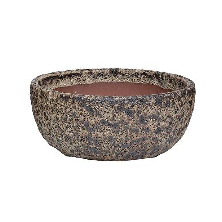 Vaso Ceramica Ferrugem M