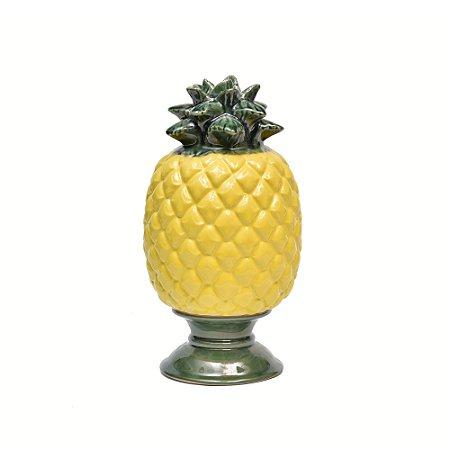 Abacaxi ceramica com base