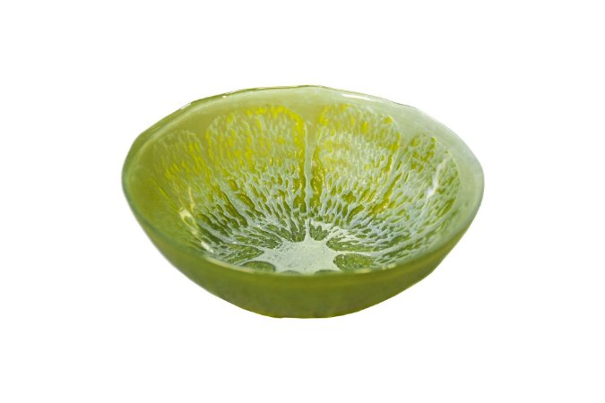 Bowl decorativo de vidro arda citrus verde