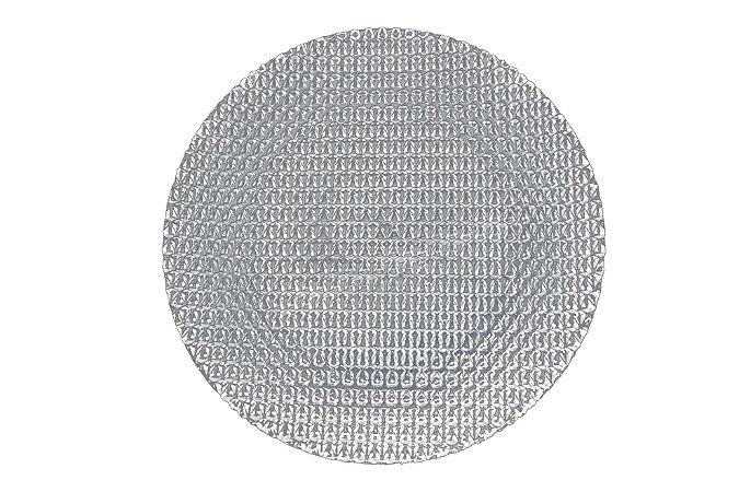 Sousplat vidro efeito cristal 32 cm