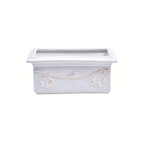 Jardineira Cerâmica Nani Branca