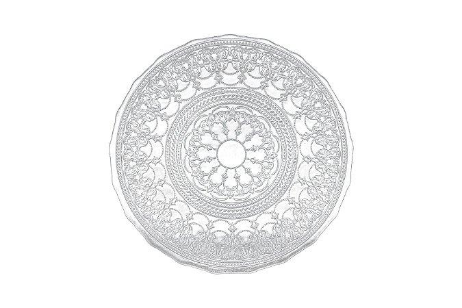 Prato sobremesa vidro Dodge incolor 23 cm