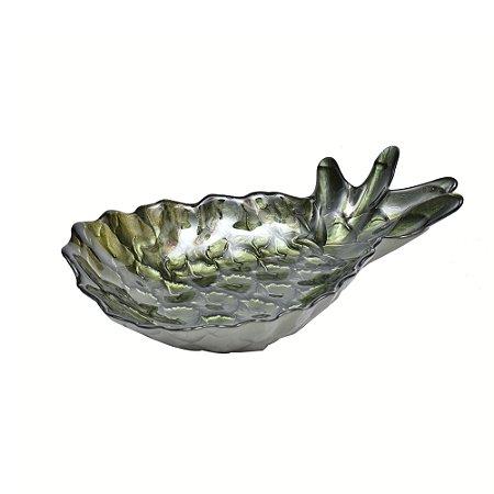 Petisqueira vidro Abacaxi Verde