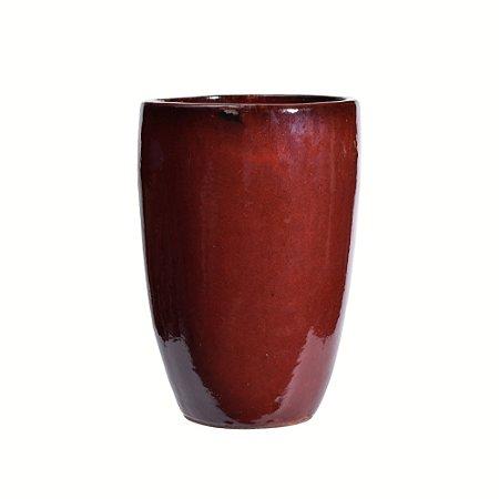 Vaso de cerâmica vermelho aliv