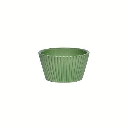 Vaso Cerâmico lista vertical verde celadon