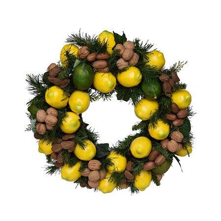 Guirlanda de Limão Siciliano Artificial com Frutas Secas