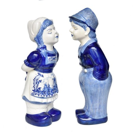 Casal de Holandeses Louça Azul e Branca
