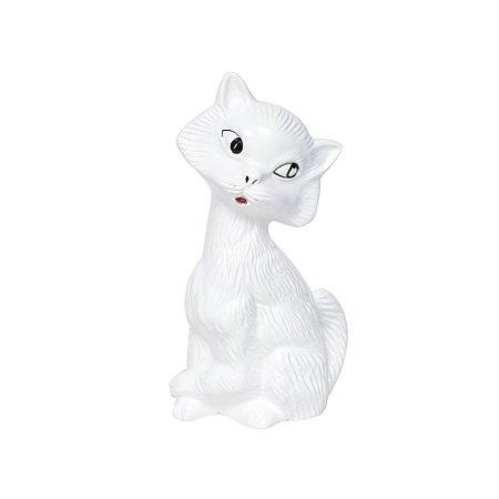 Gato de Cerãmica Branca