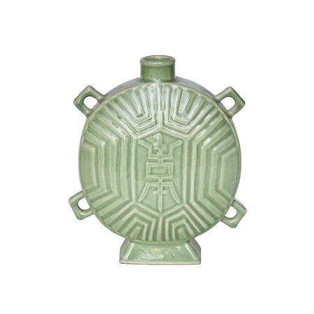 Vaso Cerâmica Verde Celadon