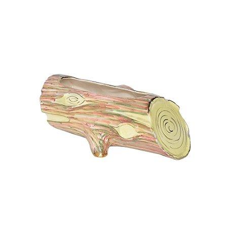 Cachepot Cerâmica Formato Tronco