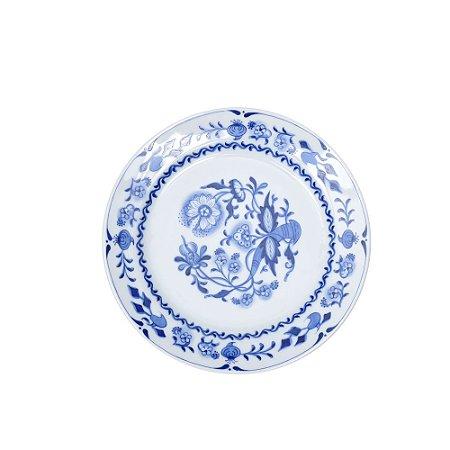 Tigela Cerâmica Pintada Azul e Branco