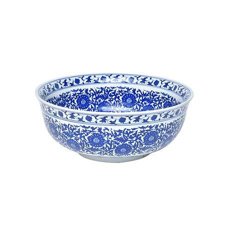 Tigela de Cerâmica GG Azul e Branco