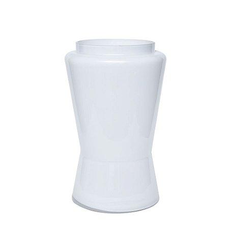 Vaso Vidro Branco Boca Grande
