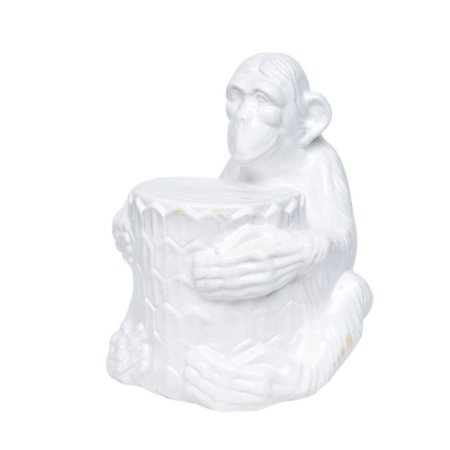 Macaco de Cerãmica Branca G