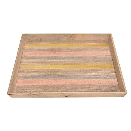 Bandeja Quadrada de madeira 60 x 60 cm