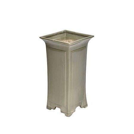 Vaso de Cerâmica Quadrado