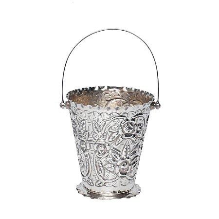 Vaso de Prata Vintage com alça