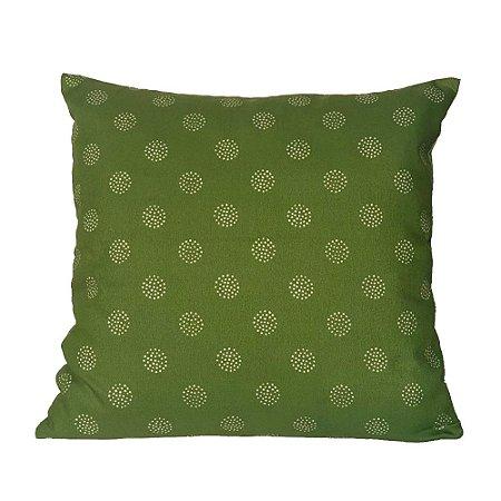 Almofada Verde com Bolas Bege