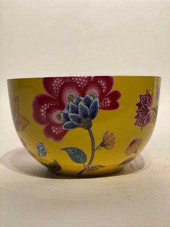 Tigela Cerâmica Amarela Florida