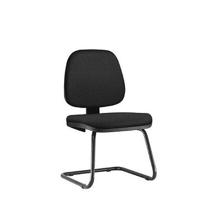 """Cadeira Diálogo Frisokar JOB Fixa, Base em """"S"""", Sem Braços"""