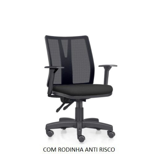 Cadeira Ergonômica Frisokar Addit Diretor, Base Metálica, Rodinha Anti Risco e Pistão Classe 3