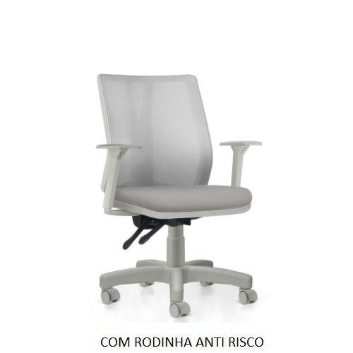 Cadeira Ergonômica Frisokar Addit Diretor CINZA, Base Metálica, Rodinha em PU Anti Risco e Pistão Classe 3