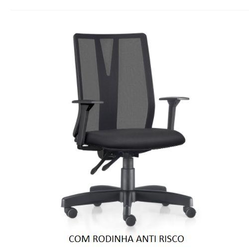 Cadeira Ergonômica Frisokar Addit Presidente SEM Apoio de Cabeça, Base Metálica Rodinha Anti Risco e Pistão Classe 3