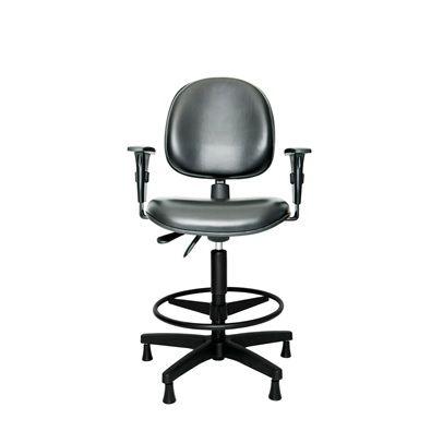 Cadeira Caixa Ergonômica com Apóia Pés e Braços Reguláveis