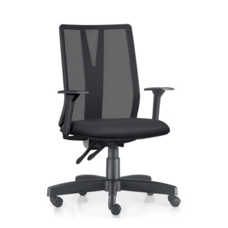 Cadeira Ergonômica Frisokar Addit Presidente SEM Apoio de Cabeça, Base Metálica Rodinha em Nylon e Pistão Classe 3