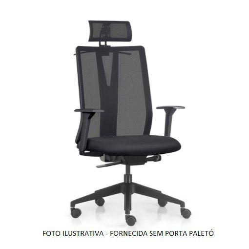 Cadeira Ergonômica Frisokar Addit Presidente SYNCRON, Base Nylon, Rodinha Anti Risco e Pistão Classe 4