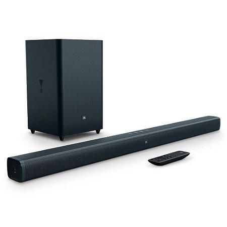 """Soundbar JBL Bar 2.1 100W RMS Com Subwoofer Sem Fio 6,5"""", Hdmi, Bluetooth, Usb e Aux"""