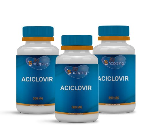 2 Aciclovir 500mg (60 cápsulas cada) e ganha 1  - Bioshopping