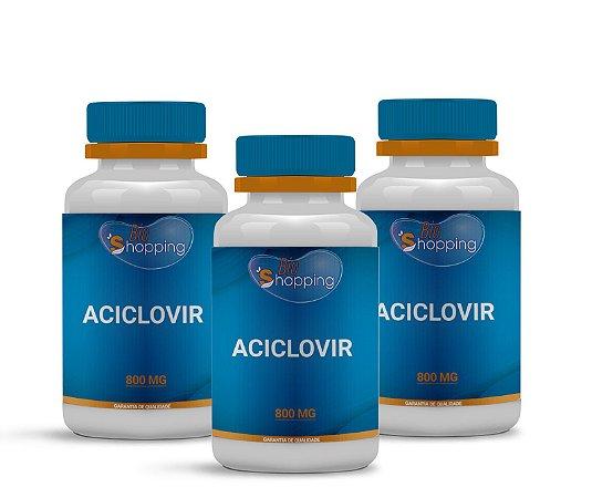 2 Aciclovir 800mg (60 cápsulas cada) e ganhe 1 - Bioshopping