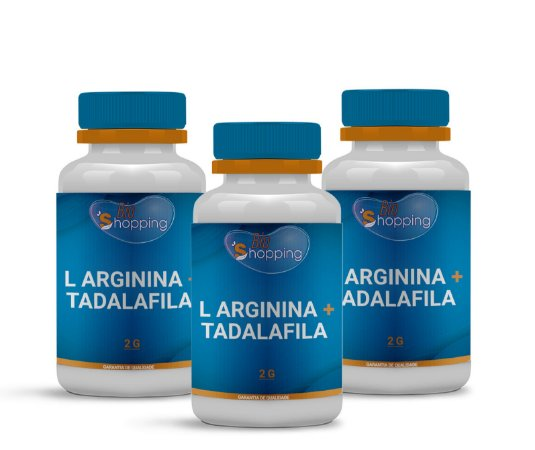 2 L Arginina 2g + Tadalafila 10mg (60 cápsulas cada) e ganhe 1 - BioShopping