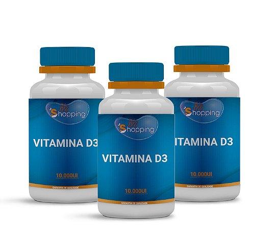 2 Vitamina D3 10.000UI (60 cápsulas cada) e ganhe 1 - Bioshopping