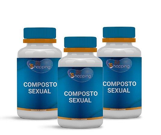 2 Composto Sexual (60 cápsulas cada) e ganhe 1 - Bioshopping