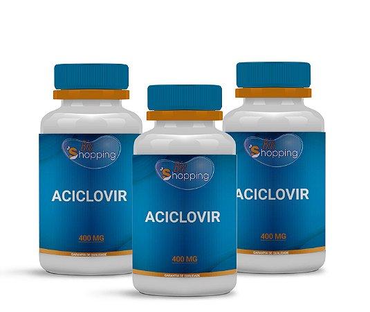 2 Aciclovir 400mg (60 cápsulas cada) e ganhe 1 - Bioshopping