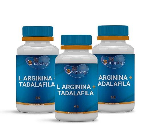 2 L Arginina 4g + Tadalafila 20mg (60 cápsulas cada) e ganhe 1 - Bioshopping