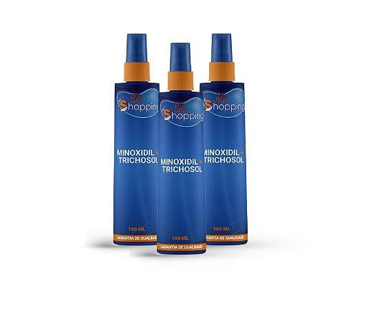 2 Minoxidil 5% em Trichosol ( sem álcool) 100ML e ganhe 1 - Bioshopping
