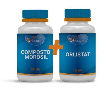 KIT 1 Pote do composto Morosil + Cactin + Altilix + 1 Pote de Orlistat - Bioshopping