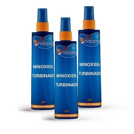 2 Minoxidil Turbinado (120ml cada) e ganhe 1 - Bioshopping