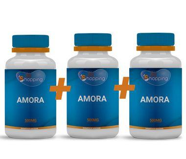 Kit 3 Potes Amora 500mg ( 30 cápsulas cada)- Bioshopping