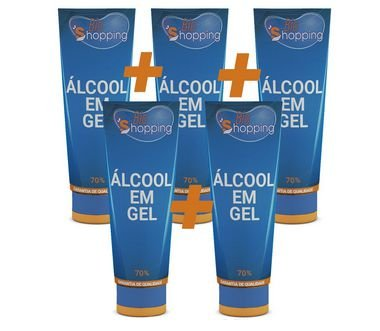Kit 5 Álcool Em Gel - Bioshopping