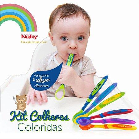 Kit Colheres Coloridas Bebê