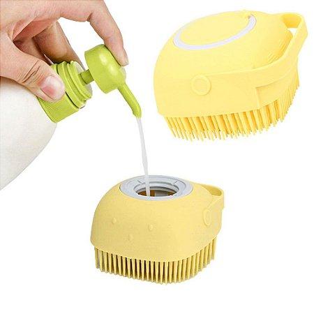 Escova De Banho Silicone Cachorro Gato Banho No Pet Shampoo Sabonete Escova Massageadora  Tosa Cuidado Limpeza Pelos Lindos E Cheirosos Animal De Estimação
