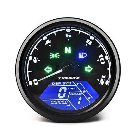 Painel De Velocidade Medidor De Velocidade De Moto Universal Velocimetro Odometro X1000RPM